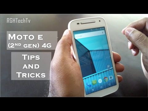 Motorola Moto E 2nd gen 4G Tips and Tricks