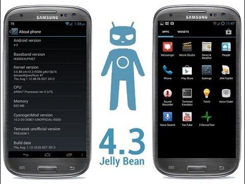 Как установить официальную прошивку Android 4.3 на Samsung Galaxy S3