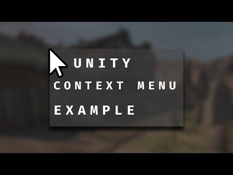 Creating A Context Menu In Custom Unity Editors