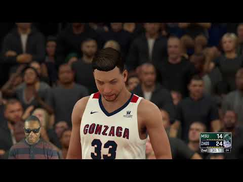 NCAA 2K18 - Gonzaga Bulldogs Vs Michican State Spartans - Game 4