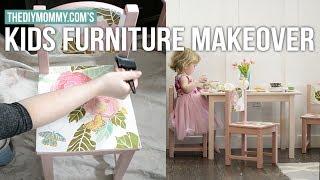 KIDS FURNITURE MAKEOVER | Vlogust Day 7
