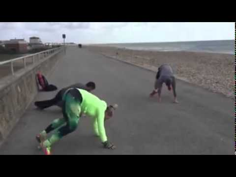 Energetic 4-Minute Seafront Workout