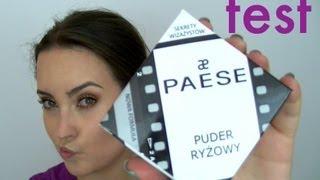 Pierwsze wrażenie + test na żywo - PAESE Puder ryżowy recenzja