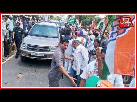 Sonia Gandhi Reaches Varanasi For Road Show