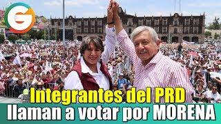 Integrantes del PRD llaman a votar por MORENA en Edomex