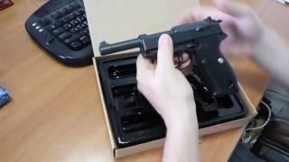 Пістолет металевий на 6 мм кульках 21 см Вальтер G21 Galaxi