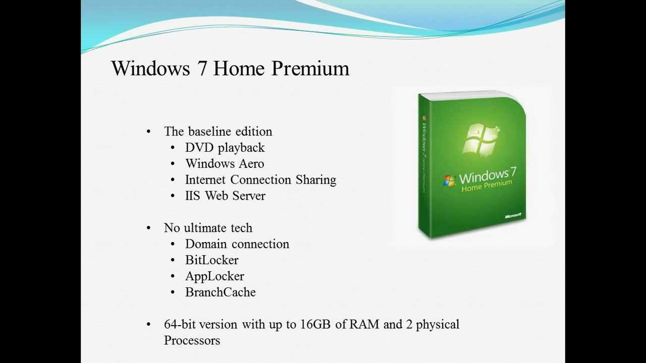 difference windows 7 home vs professional