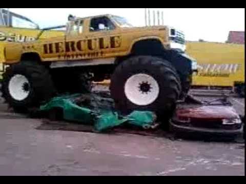 la team el drivers a bray dunes monster truck hercule l 39 invinsible des voiture qui a craser. Black Bedroom Furniture Sets. Home Design Ideas
