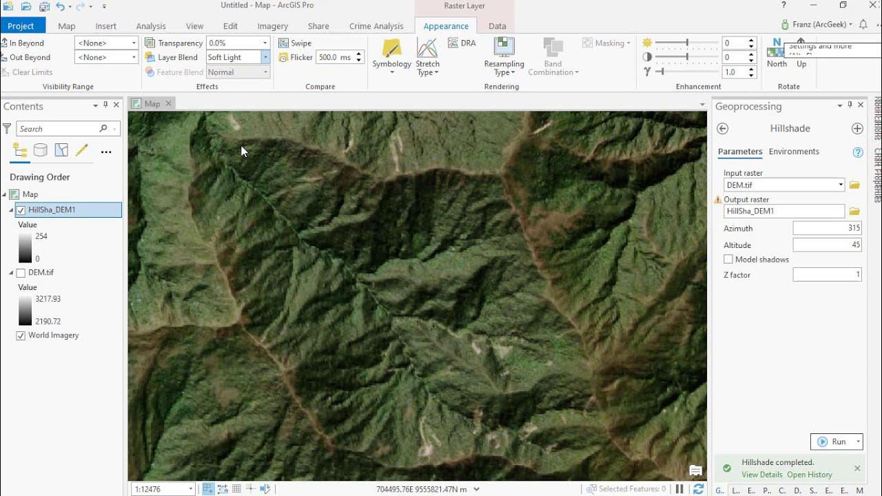 Crear un efecto topográfico en ArcGIS Pro