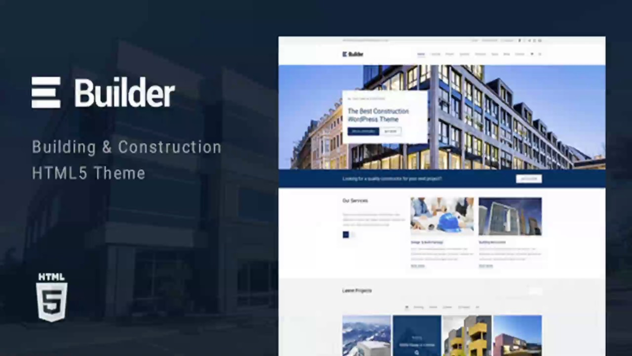 Builder Building Construction HTML Template Themeforest - Website template builder