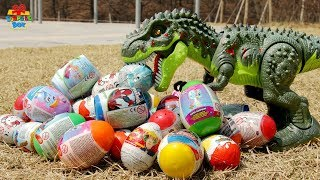 Learning Color dinosaur toy Surprise Egg nursery rhymes play for kids