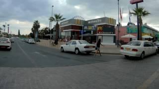 Улицы Айя-Напа Кипр дорога к пляжу Нисси Бич / Agia Napa streets Cyprus: driving to the Nissi Beach