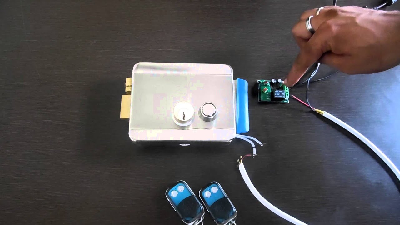 Electronic Lock With Remote Receiver Youtube Controlled Door Circuit Projects