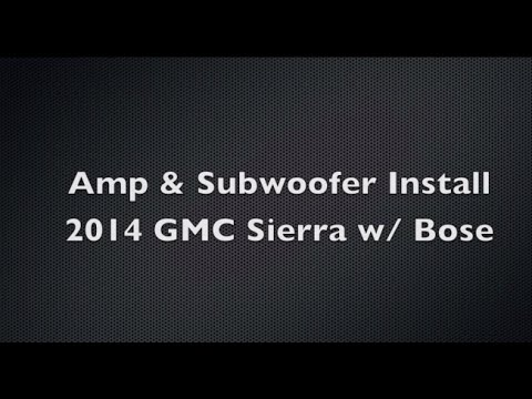 hqdefault easy diy subwoofer & amp install w oem bose 2014 gmc sierra Bose Car Stereo Wiring Diagrams at crackthecode.co