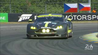 Slo mo images of 4 category 24 Hours of Le Mans winners