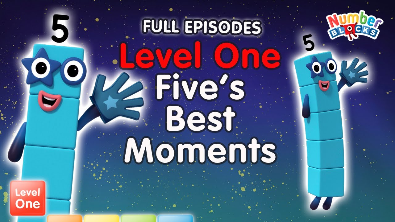 Download #Stayathome - Numberblocks Level One | FULL EPISODES | All the Best Five Moments! | #HomeSchooling