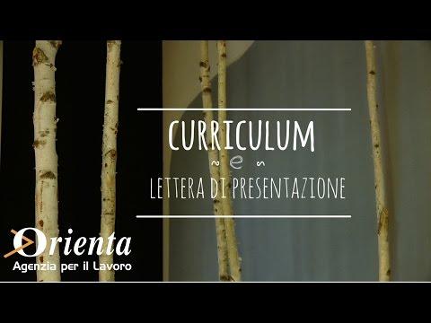Il CV e la lettera di presentazione