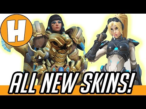 ALL NEW Overwatch Cosmetic Update Skins + Cosmetics! | Hammeh