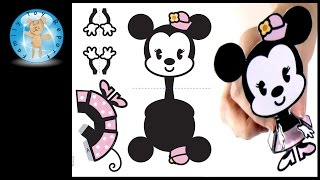 Minnie Mouse Cutie Disney Family 3D Papercraft How To Paper Craft Review - Family Toy Report