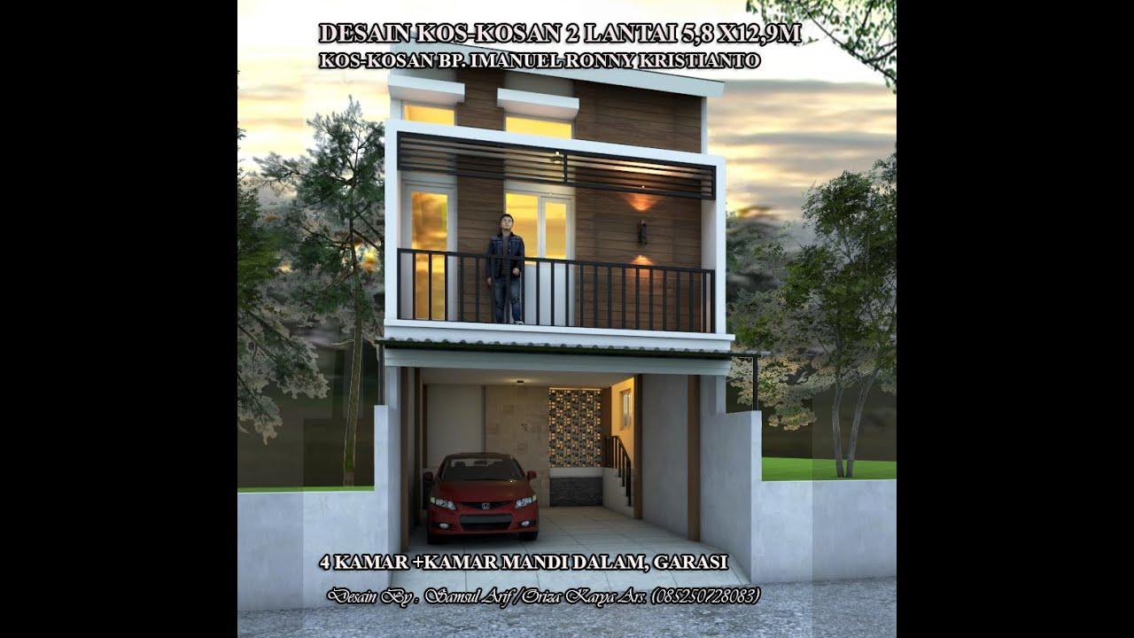 Desain Kos Kosan 2 Lantai 5 8 X 12 9 Meter Bp Imanuel Ronny Kristianto Youtube