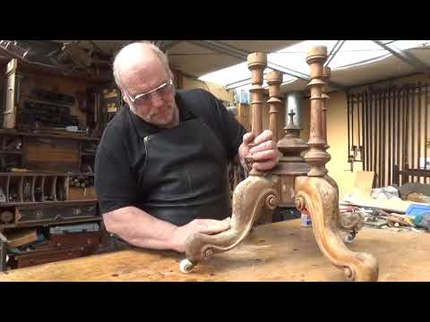 Antique Furniture Restoration Face Filling for veneer