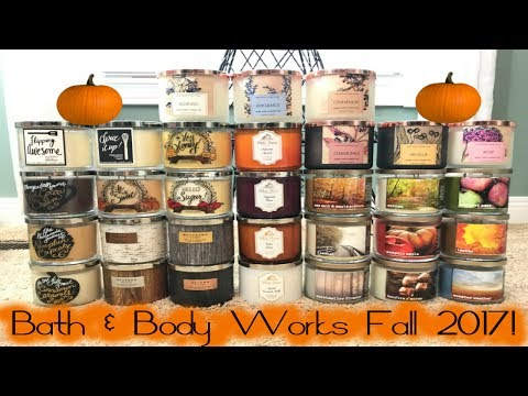 HUGE Bath & Body Works Fall Preview 2017 Test Candles Haul | July 2017!