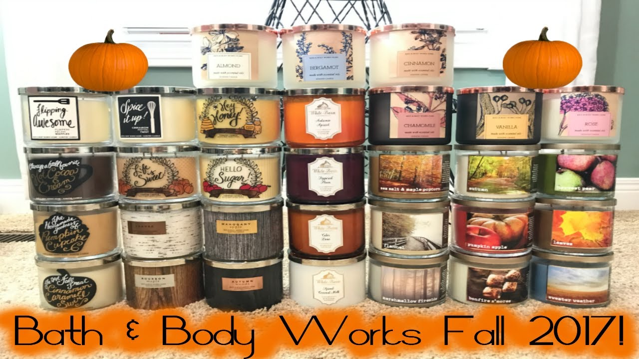Huge Bath Body Works Fall Preview 2017 Test Candles Haul July