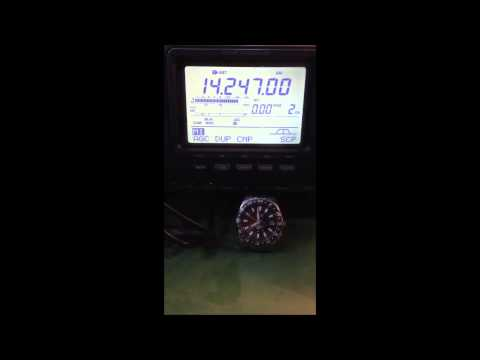 China News Radio on 14247khz Amateur frequency