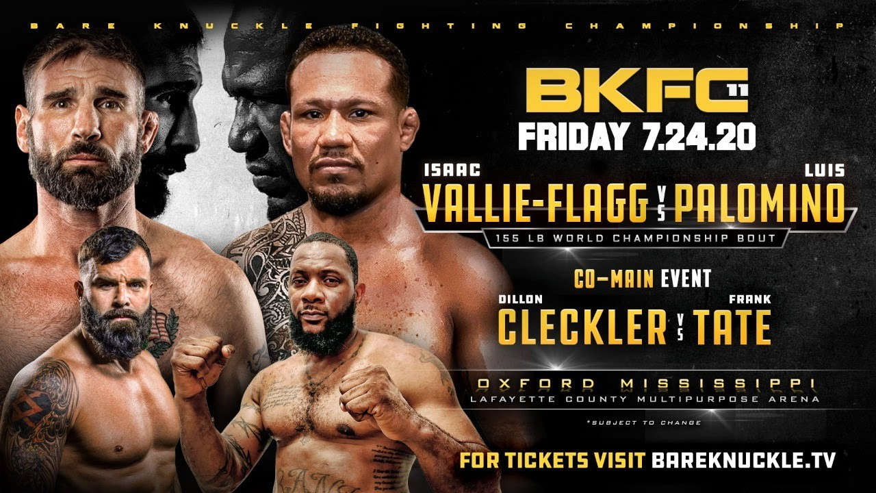 Bare Knuckle Fighting Championship 11 - Live and FREE!