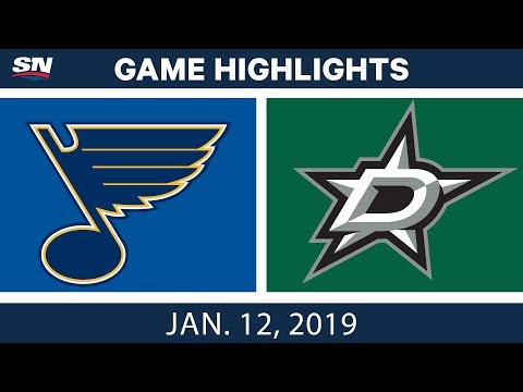 NHL Highlights | Blues vs. Stars - Jan. 12, 2019