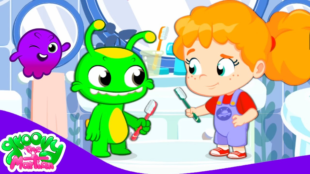 Groovy The Martian & Phoebe educational for kids | Learn to brush your teeth for a bright smile