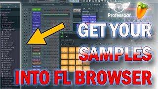 FL Studio, How To Load Your Sample Folder Into FL Browser
