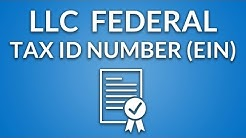 LLC Federal Tax ID Number (EIN)
