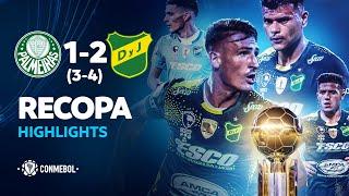 CONMEBOL Recopa   Palmeiras 1 (3) - 2 (4) Defensa y Justicia   Highlights Vuelta