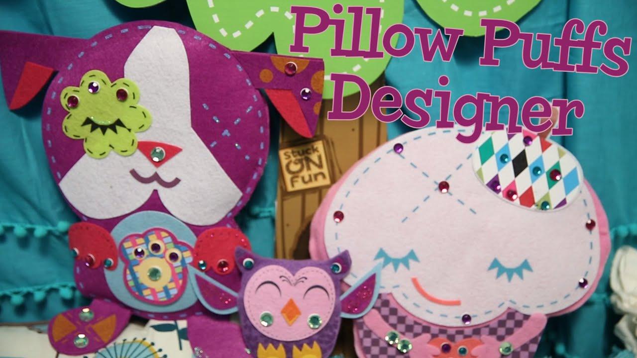 Felt Craft Ideas For Kids Part - 49: Pillow Puffs Designer: No-Sew Felt Crafts For Kids - YouTube