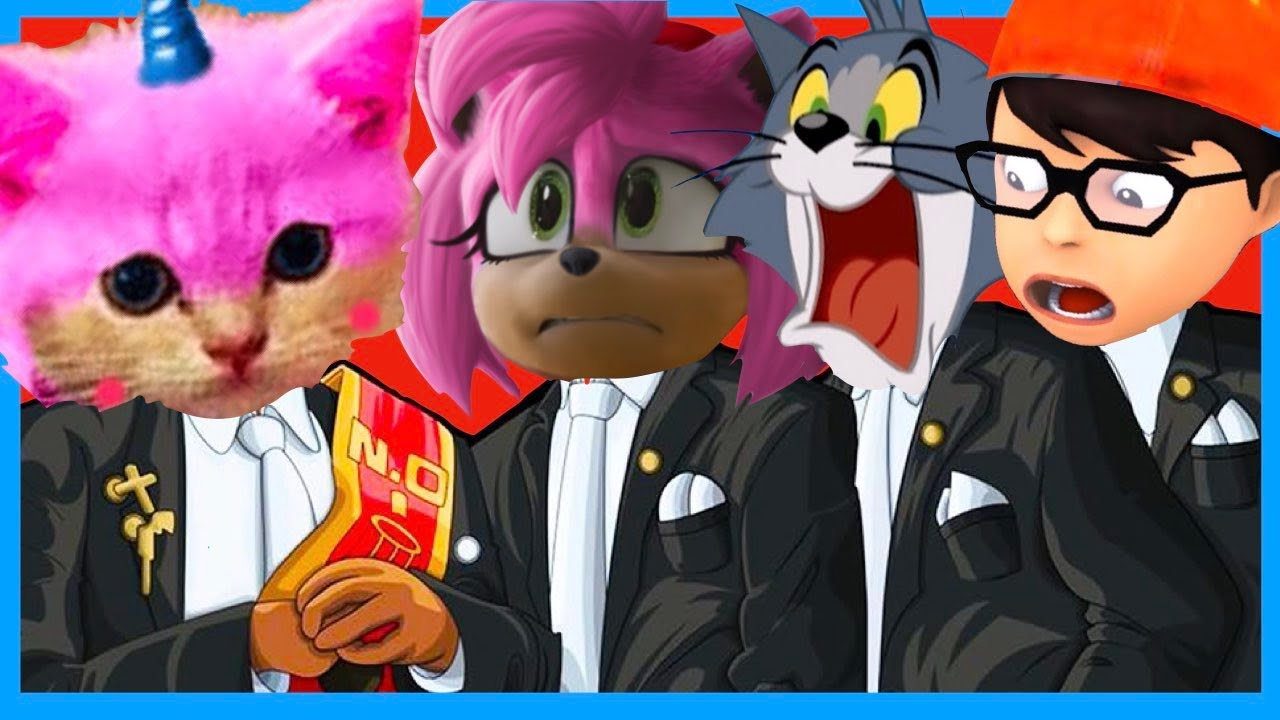 Sonic Amy & Tom and Jerry & Tani and Nick & Unikitty - Coffin Dance Song Megamix (Cover)
