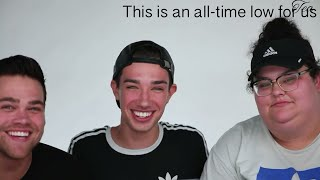 Elijah and Christine being fake with James Charles
