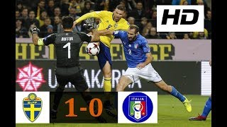 Sweden vs Italy 1-0   All Goals & Highlights   World Cup Qualifiers 10/11/2017 HD