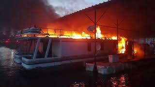 Fire Holiday Marina Lake Lanier Dock 7 June 1, 2021