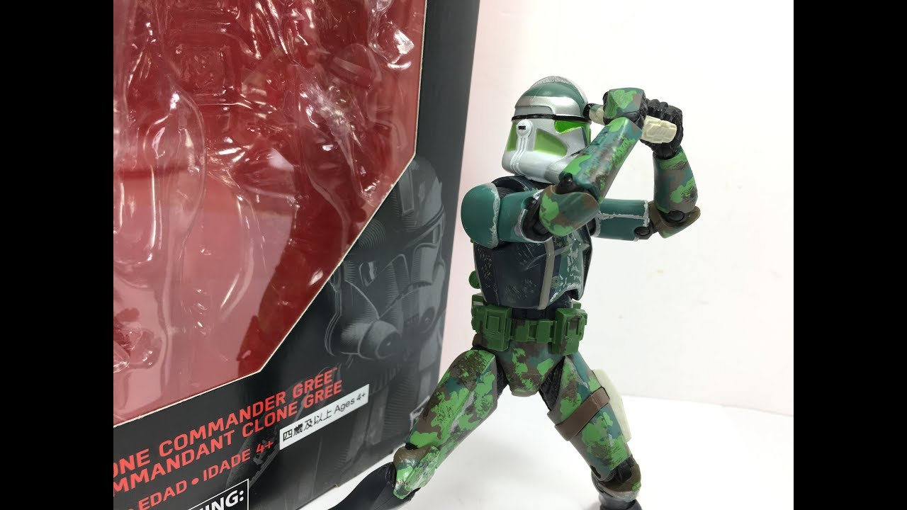 Star Wars Black Series 6 Inch Clone Commander Gree Chefatron Toy Review