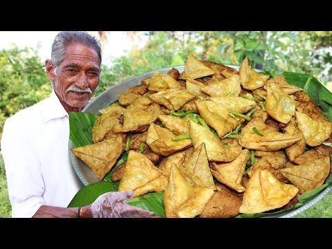Samosa Recipe | Aloo Samosa Recipe Cooking by our grandpa for Orphan kids