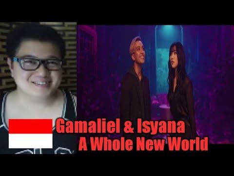 "Gamaliél, Isyana Sarasvati - A Whole New World (From ""Aladdin""/Official Video) L Christer C Reaction"