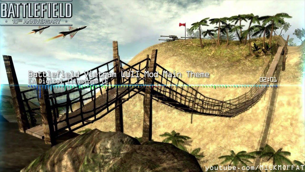 battlefield 10th anniversary: battlefield vietnam wwii mod theme