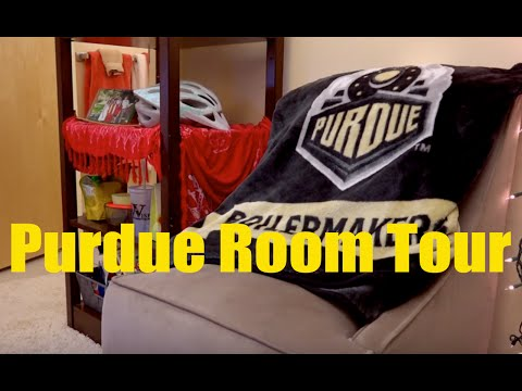 Purdue University Residences Room Tour | A sample single suite style room 2016