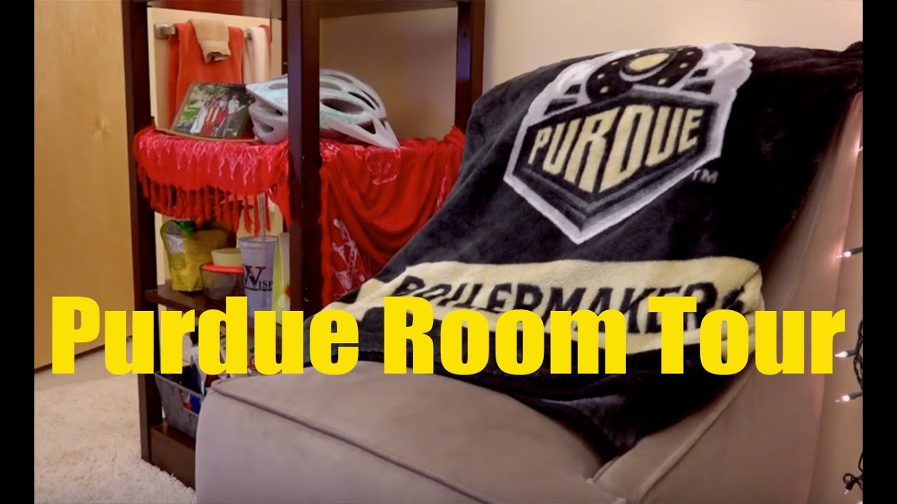 purdue university residences room tour a sample single suite style room 2016