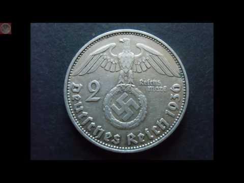 08.12.- Drittes Reich 2 Reichsmark 1936 D