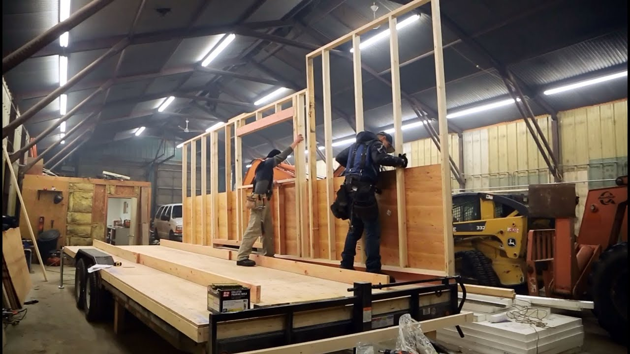 How to build and frame tiny house walls ana white tiny house build episode 3 youtube Build your home