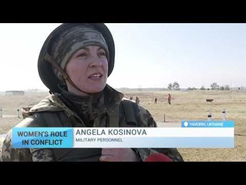 Women's Role in Conflict: Ukrainian women train for war