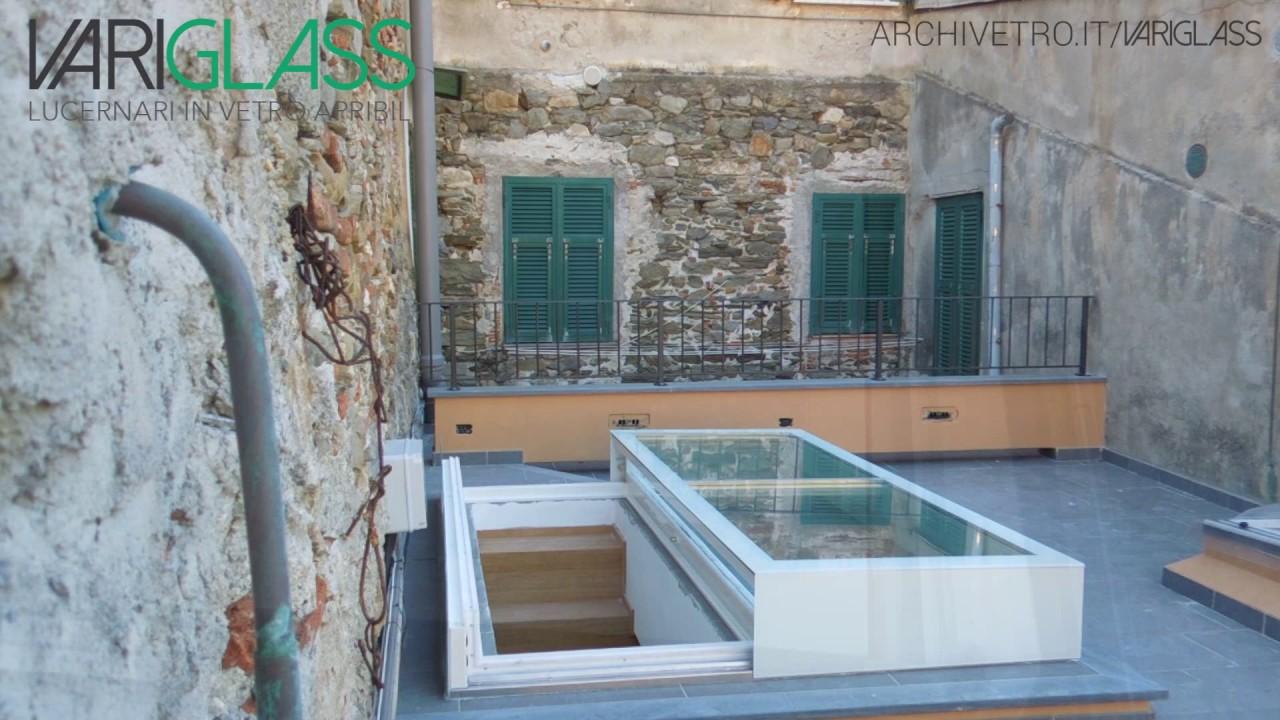 Lucernario in vetro apribile variglass esempio di for Lucernari calpestabili velux
