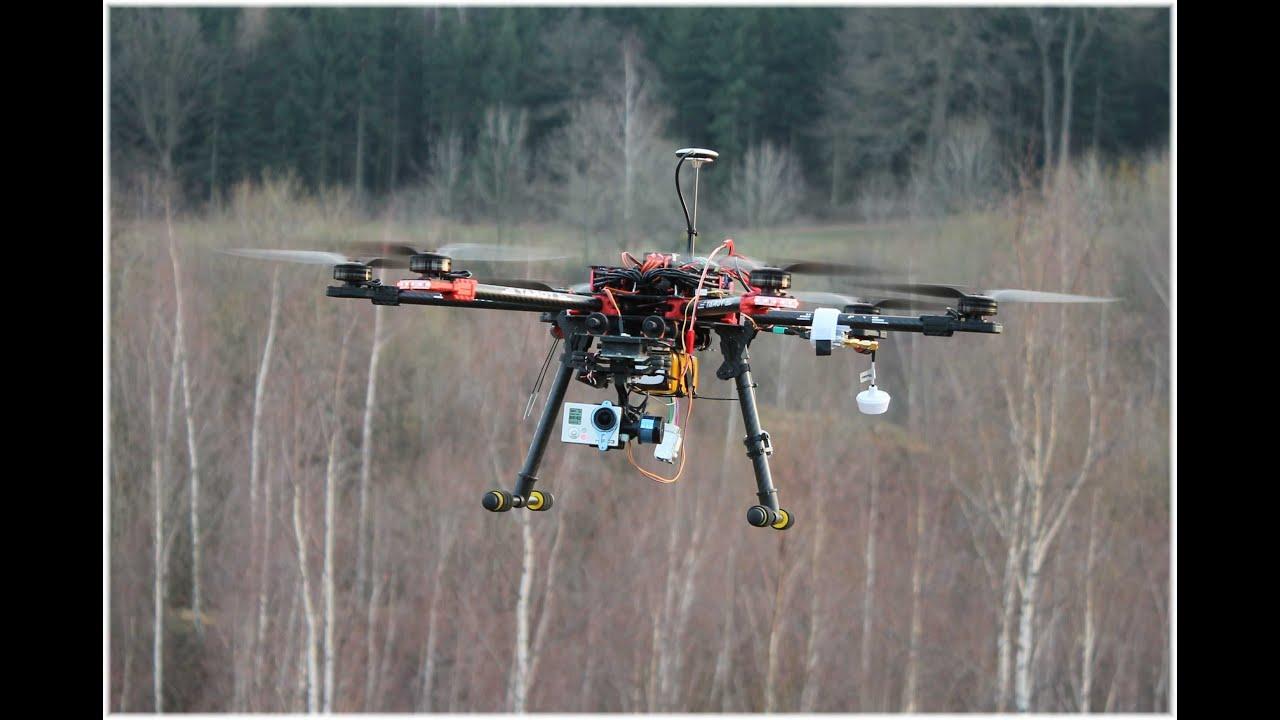 Tarot FY690S Hexacopter FPV Testflug in Wernigerode mit Tarot Gimbal ...